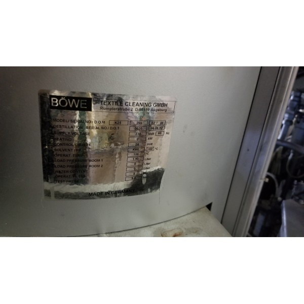 Bowe Dry Clean machine